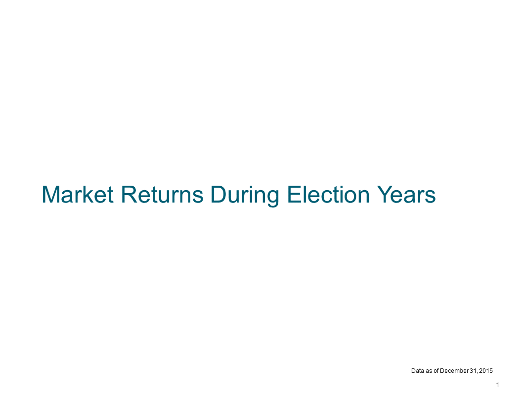 Market Returns During an Election 1