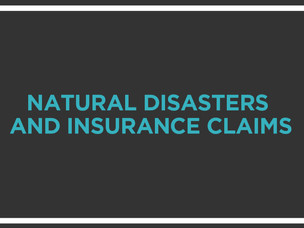 A Roadmap for Insurance Claims after a Natural Disaster