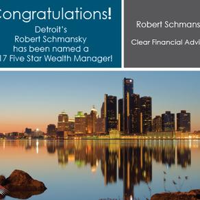Robert Schmansky, CFP® Named Five Star Wealth Manager - 2017-2019