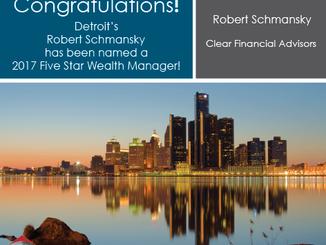 Clear Financial's Robert Schmansky, CFP® Named Detroit Five Star Wealth Manager