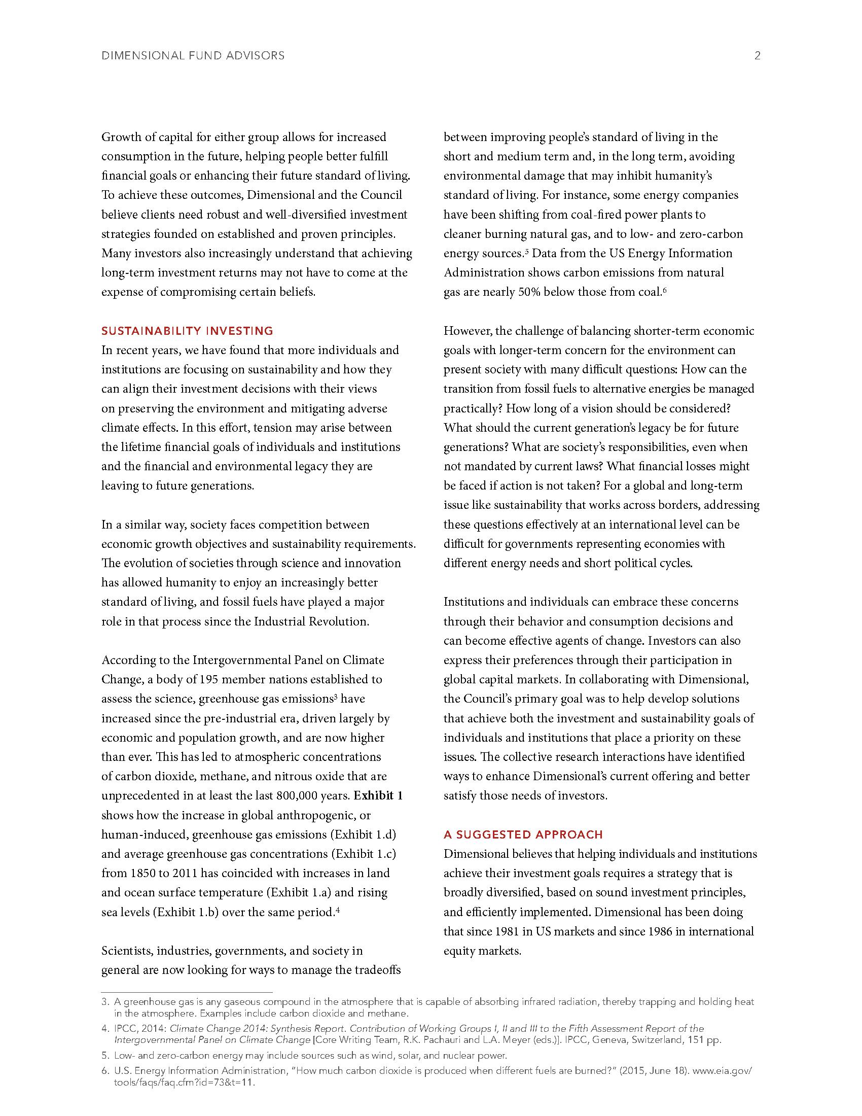 Sustainability Investing CFP DFA 2