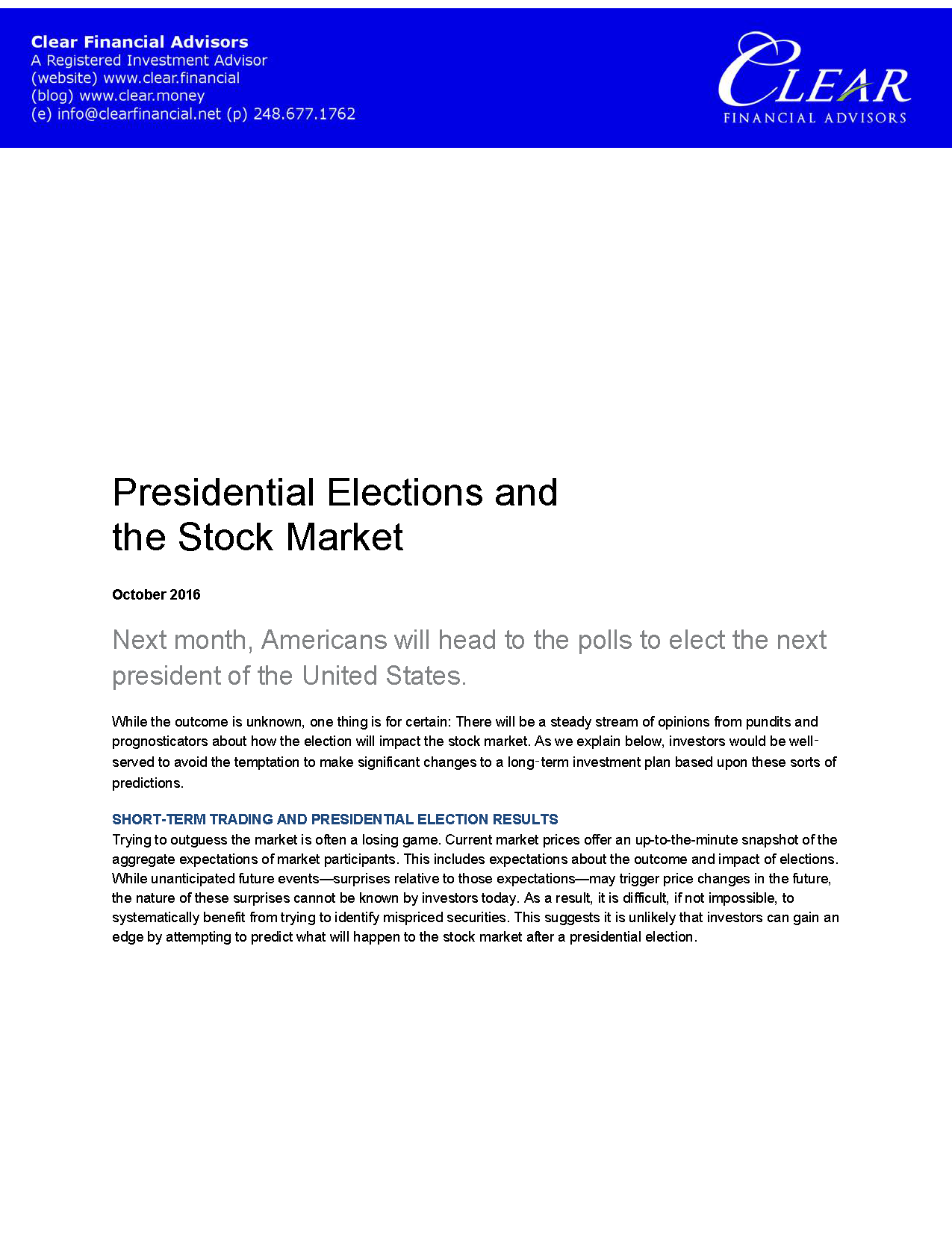 Presidential Elections and the Stock Market_Page_1