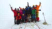 On the summit of Mt. Kazbek