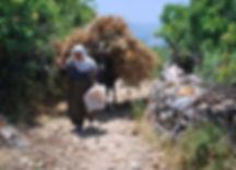 Bauernfrau am Paulusweg