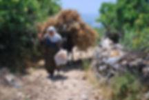 Bauernfrau im Taurugebirge