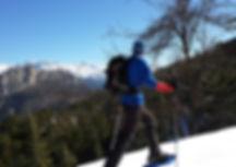 Snow shoe hiking Taurus mountains
