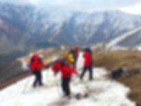 Skibesteigung des Mt. Kasbek in Georgien