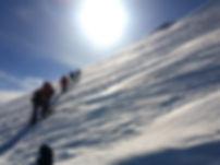 Aufstieg am Mt. Kazbek