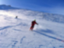 Abfahrt am Mt. Baset