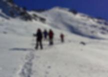 Snow shoe trekking