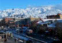 Stadt Erzincan und Munzur-berge
