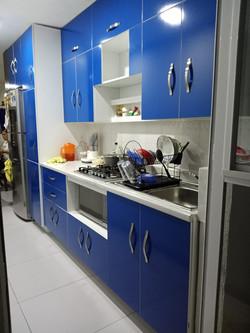 Cocina Azul alto-brillo 1