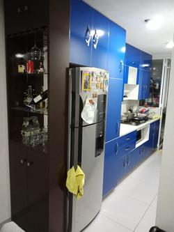 Cocina Azul alto-brillo 4