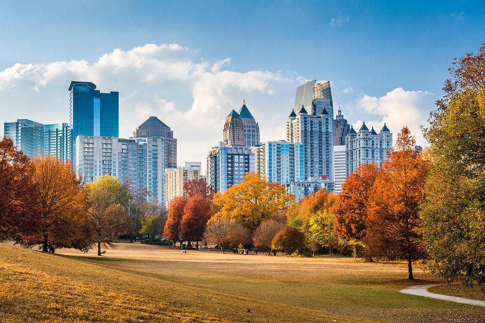 Atlanta, Georgia, USA midtown skyline fr