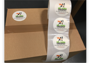 Uberpet stickers on raw dog food delivery