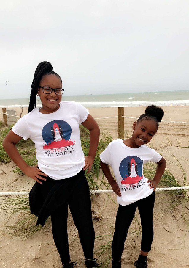 Kya and Kiera in our Orginal Classic T-shirts