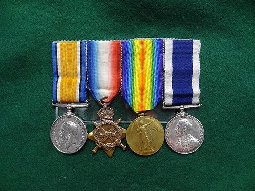BRITISH NAVY SET -HERBERT WILBY - HMS SHANNON - #BMG1