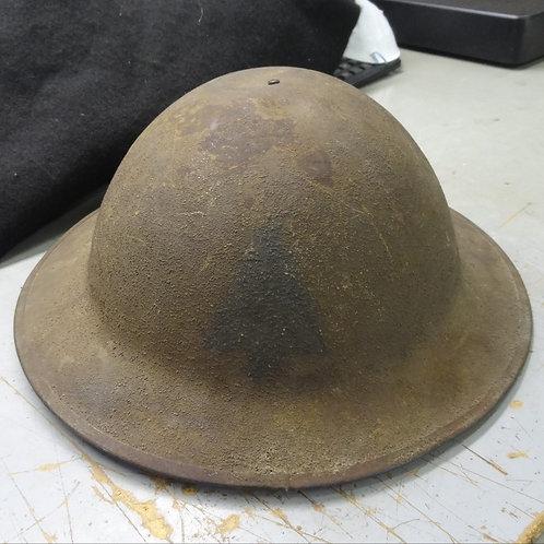 WW1 PAINTED HELMET - 91ST DIVISION  - #WW1E7