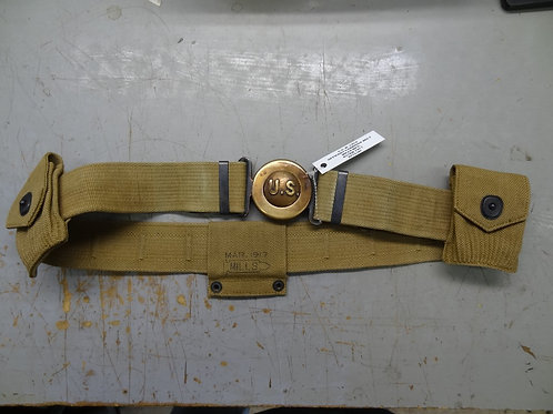 M-1910 OFFICER'S GARRISON BELT - MILLS - 1917 DATED - #WW1E1