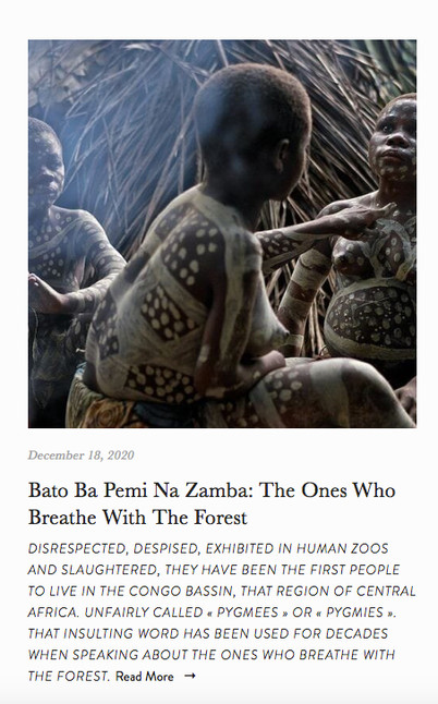 BaATO BA PEMI NA ZAMBA: THE ONES WHO BREATHE WITH THE FOREST.