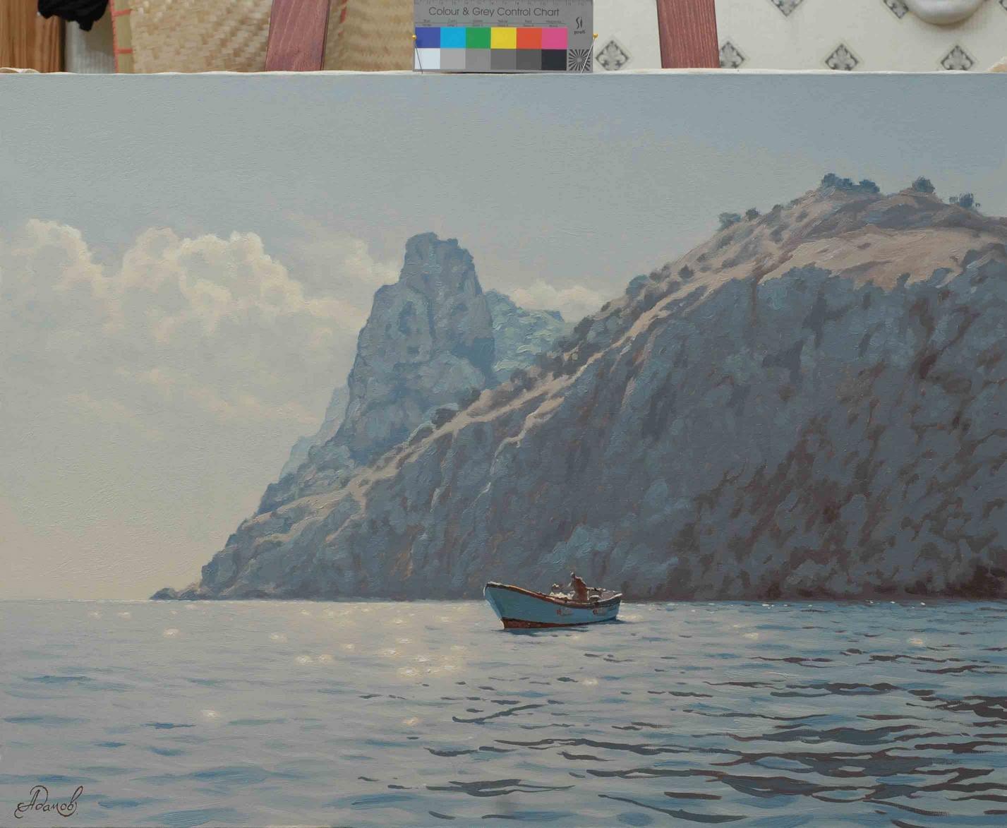 Прогулка  у скал, 60х80см., х.м., 2007г.JPG
