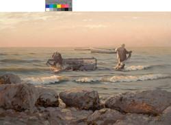 Рыбаки на рассвете, 60х90см.,х.м., 2007г.jpg