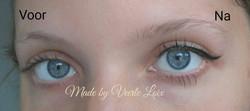 Voor en na eyeliner