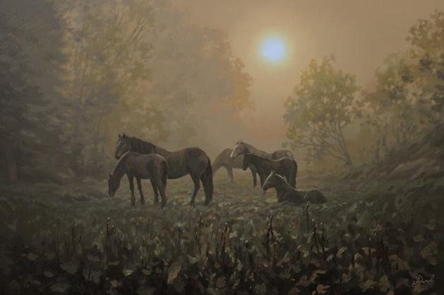Пейзаж с лошадьми .jpg
