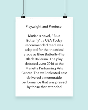 Marian L. Thomas Blue Butterfly Book