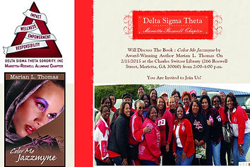 Delta Sigma Theta Event for Color Me Jazzmyne Book