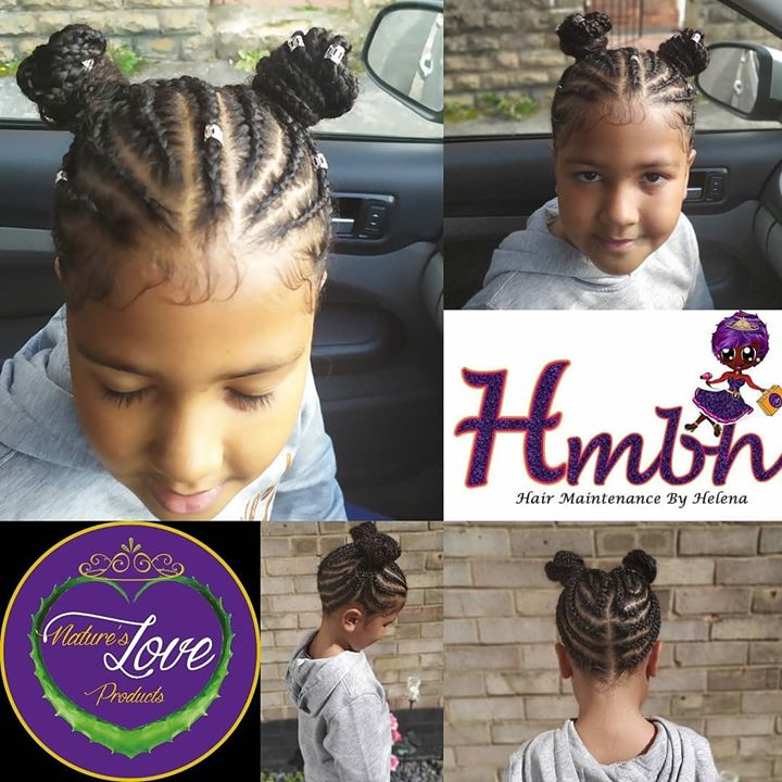 This young Queen had her Hair treatment