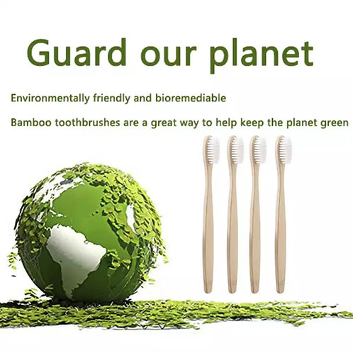Eco Friendly Charcoal Bamboo tooth brush 2pk 100 % biodegradable