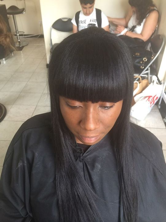 Facebook - Partial weave with fringe....