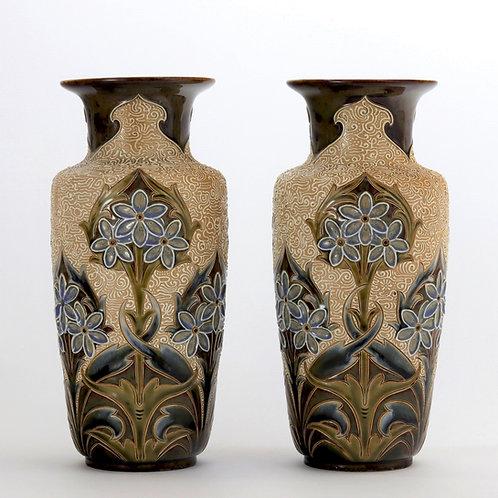 Doulton Lambeth Art Nouveau Vases by Eliza Simmance