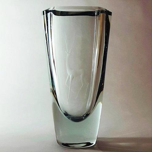 Stromberg Strombergshyttan Art Glass Vase Asta Stromberg c1955