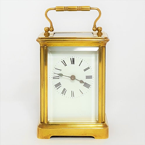 French Brass Corniche Cased Carriage Clock c.1900
