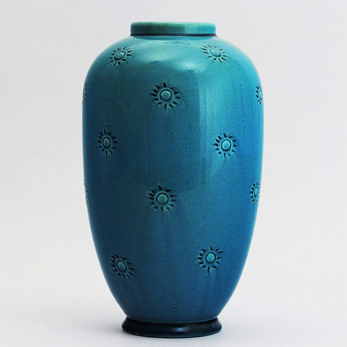 Burmantofts Faience Art Pottery Baluster Vase c1890
