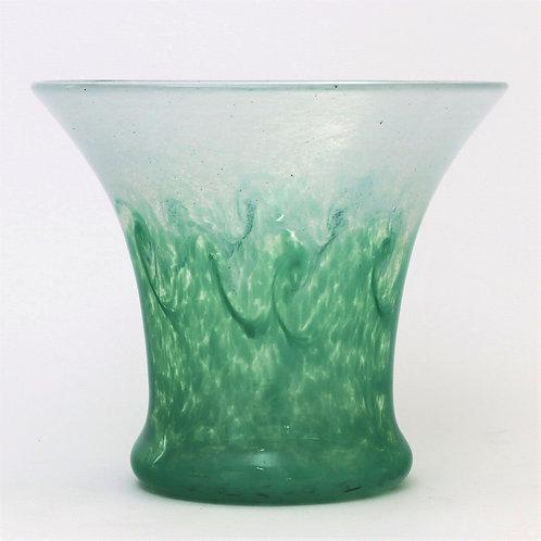 Monart Glass Vase with Whirls c1930s