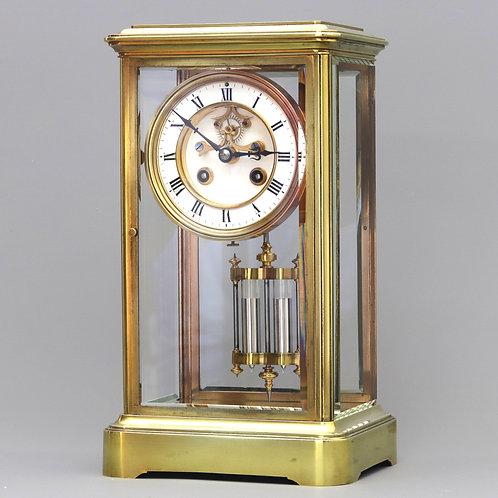 Four Glass Striking Mantle Clock by Samuel Marti et Cie c1875
