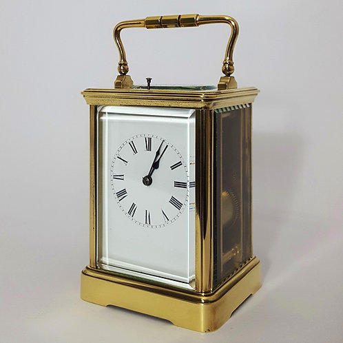 Large French Brass Striking Repeating Carriage Clock