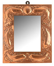 Newlyn Arts and Crafts Copper Framed Wal