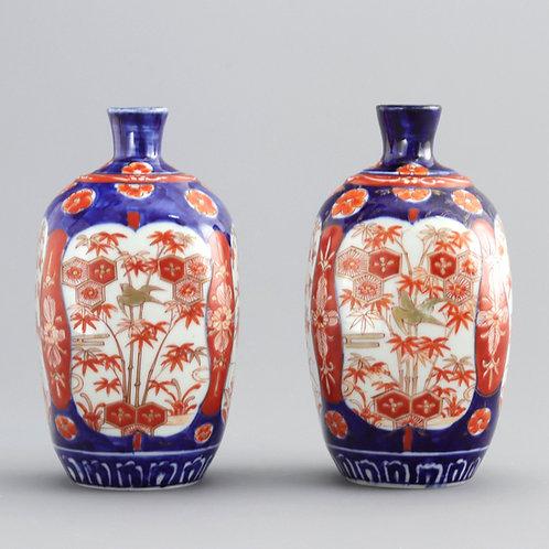 Pair of Japanese Meiji Period Imari Vases c1890