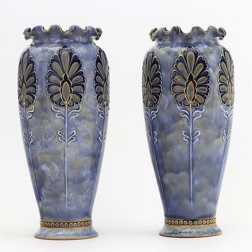 Pair of Royal Doulton Art Nouveau Vases by Eliza Simmance