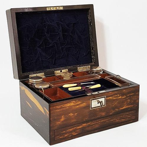 Ladies Coromandel Jewellery/Dressing Case c1880