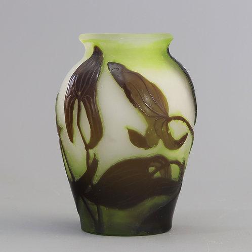 Emile Galle Cameo Glass Vase c1910