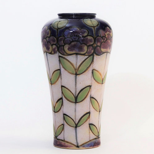 Royal Doulton Art Deco Stoneware Vase by Bessie Newbury c1920