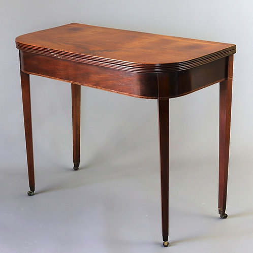 Georgian Mahogany Fold-Over Tea Table c1810