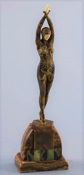 Starfish Dancer c1925 by Demétre Chiparus - Chiparus sold his work through Etling's store in Paris.