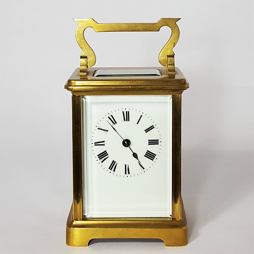 Gilt Brass French Anglaise Cased Carriage Clock c.1885
