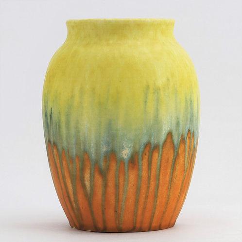 Ruskin Pottery Crystalline Drip Glaze Art Vase 1930